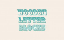 Show [wooden letter blocks]