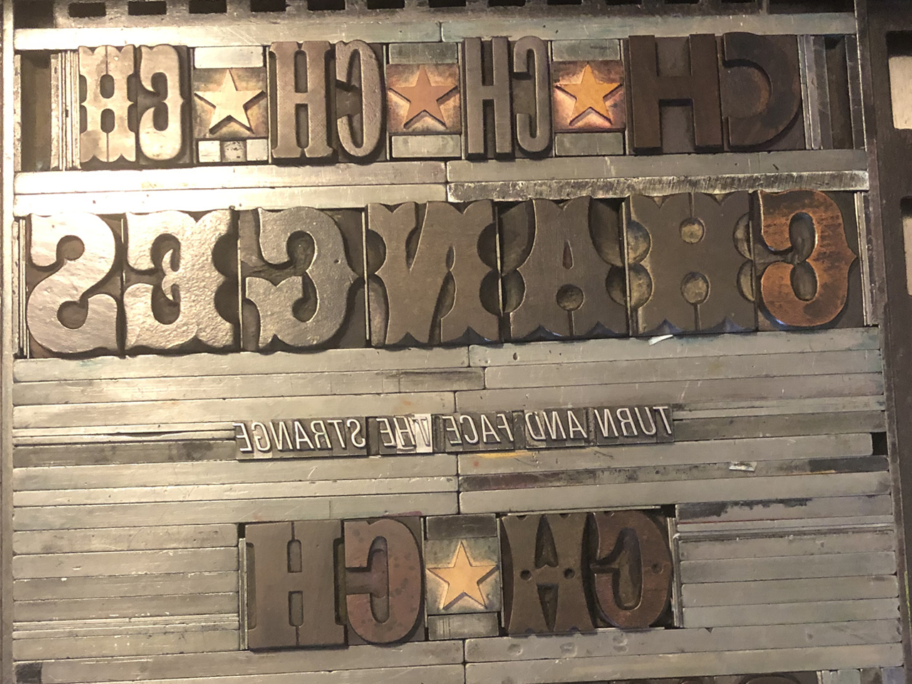 Changes [wood letters]