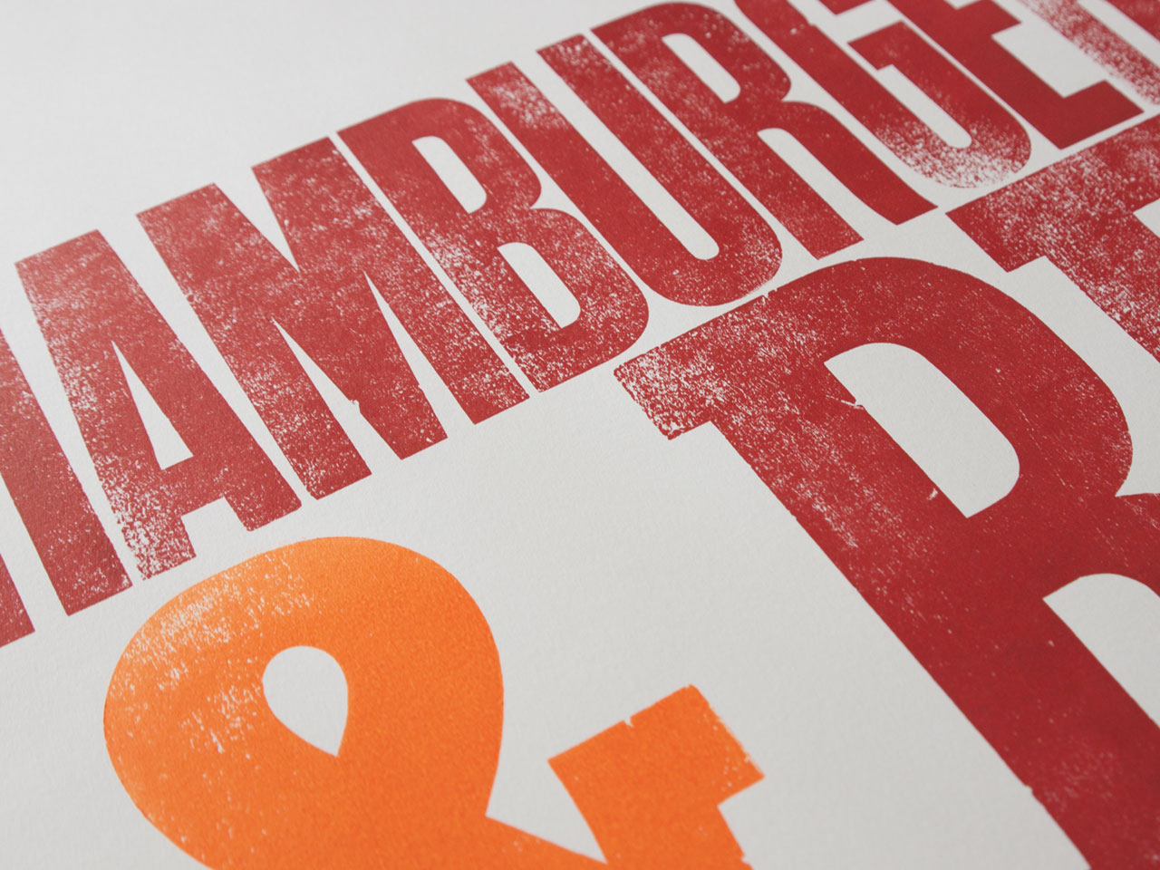 Hamburgerfonts & beer [detalle]
