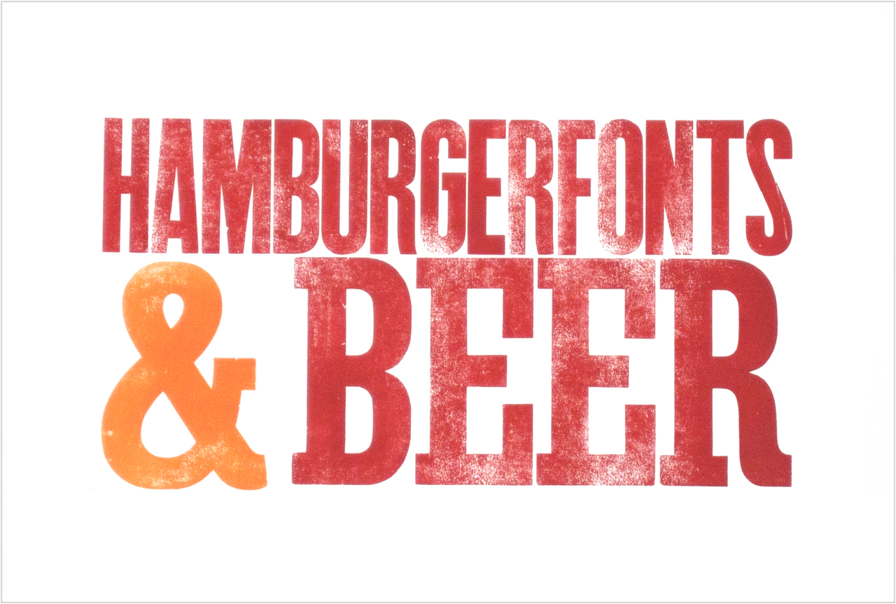 Hamburgerfonts & Beer